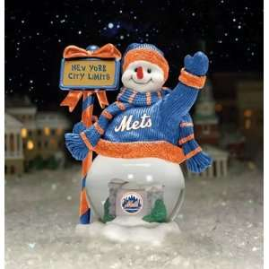 New York Mets Team City Limits Snowman MLB Baseball Fan