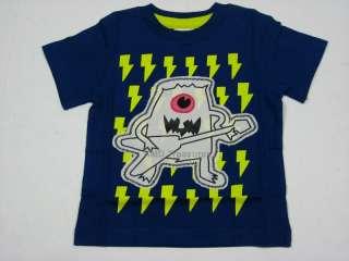 New Boys Mini Boden Monster Dinosaur Short Sleeve Shirt