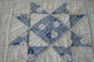 QUILT Wonderful BLUE CALICO Prints COUNTRY Colors NICE ONE!