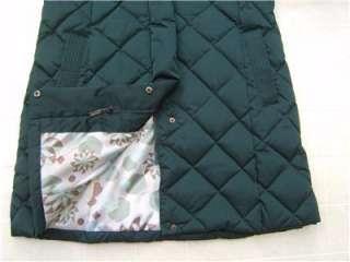 New Womens Gallery 70% Down Real Fox Fur Trim Hoodie Hooded Quilt Coat