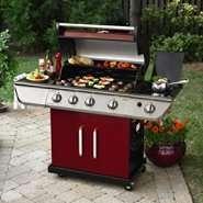 Kenmore 4 Burner LP Red Gas Grill w/ Searing Burner
