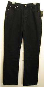 NEW RALPH LAUREN POLO Womens Jeans Pants 12 NWT Black