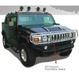 03 08 Hummer H2 Front Oem Style Double Brush Grille Guard