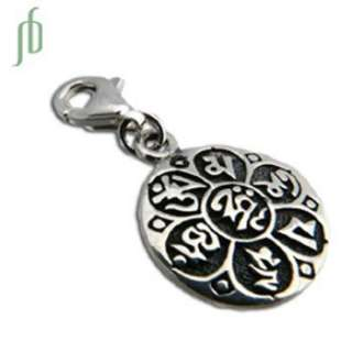 Om Mani Padme Hum Charm Fair Trade Sterling silver: Necklaces