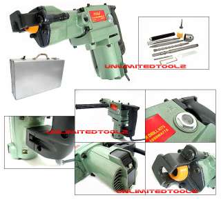 HD 1 1/2 SDS ROTARY HAMMER DRILL KIT W/ BITS & CHISEL