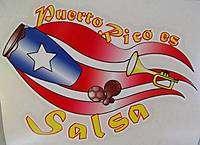 PUERTO RICO ES SALSA CONGA MARACAS FLAG DECALS STICKERS