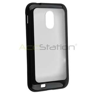 For Samsung Galaxy S2 II Sprint Epic 4G Touch NEW Black Clear TPU Gel