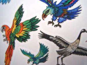 Kids Temporary Bird Tattoos