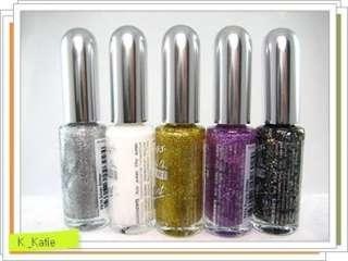 Lot of 5 Brush on Nail Art Paint Designer Polish New