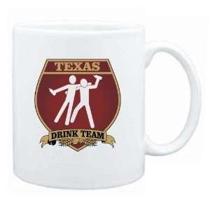 Texas Drink Team Sign   Drunks Shield  Mug State