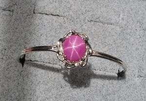 12X10MM LINDE LINDY PINK STAR RUBY CREATED BRACELET