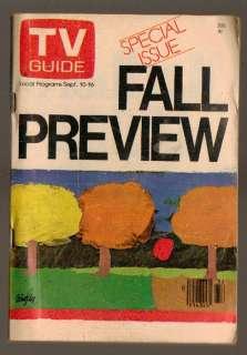 TV Guide Magazine September 10 1977 Fall Preview TV No label