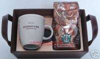 STARBUCKS COFFEE MUG WITH ANNIVERSARY BLEND GIFT SET WITH TRAY NEW 4