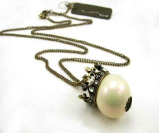 Queen imitation pearl Flower Necklace Tag $26.99 X39