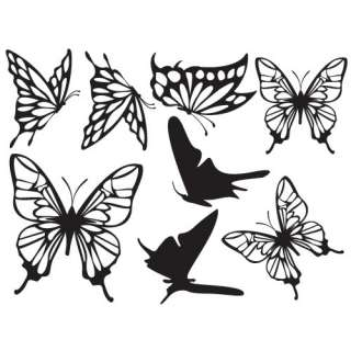 Butterflies Adhesive Removable Wall Decor Accents GRAPHIC Stickers