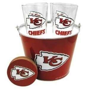 NIB Kansas City Chiefs NFL Beer Glass & Coaster Set