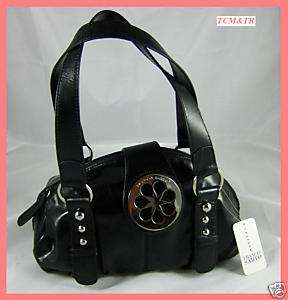Franco Sarto Juicy Fruit Satchel Handbag Black NWT $118