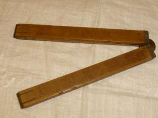 Antique Vintage STANLEY NO 7 Wooden Folding RULE Tool Ruler