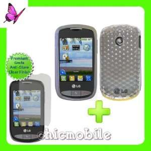 Screen Shield + WT TPU Gel Case Cover TRACFONE LG 800G