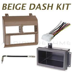 GM Chevy Pickup 88 94 Radio Beige/Tan Dash Kit Combo