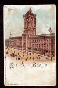 hold to light rathaus greetings from berlin germany postcard