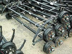 3500LB 4 DROP BRAKE AXLE 95HF 80SC 5 LUG TRAILER,CARGO