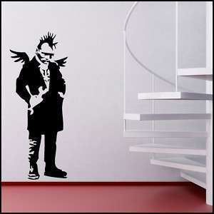 BANKSY ANGEL PUNK WINGS VINYL WALL ART STICKER DECAL