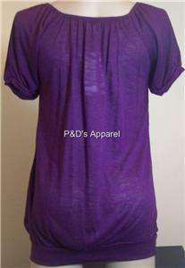 New Womens Cozy Maternity Clothing Purple Shirt Top Blouse M