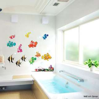 Under the Sea TropicalFish Wall Art Mural Sticker Decal