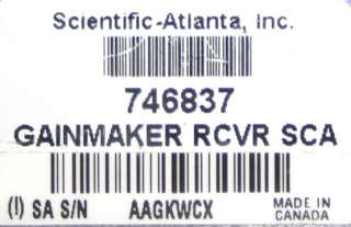 Scientific Atlanta 746837 GainMaker Receiver
