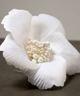 WEDDING BRIDAL WHITE FLORAL FLOWER BRIDE HAIR ACCESSORY 068180002429