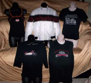 Big lot womens Harley Davidson & Biker tops Jacket Medium FREE