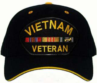 VIETNAM VETERAN CAMO or COLORS Baseball Cap Hat New