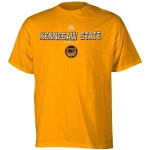 adidas Kennesaw State Owls Gold True Basic T shirt Sports