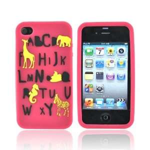 ABC PINK For EZ Capes Apple iPhone 4 Silicone Case Cover