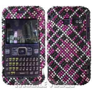 Bling Diamante Rhinestone Hard Case Cover For Sanyo SCP 2700