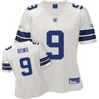 Reebok Dallas Cowboys Tony Romo Womens Replica White Jersey