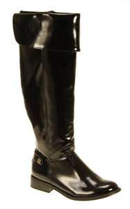 LADIES WOMENS BOOTS WIDE LEG CALF PATENT BLACK BIKER BOOTS SNOW WINTER