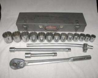 Series 3/4 Drive Set   Ratchet, Sockets, Extensions, Tool Box