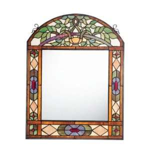 Conservatory Mirrored Arched Tiffany style Art Glass Home