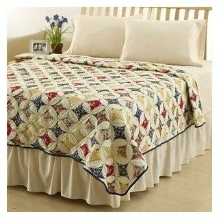 Tommy Bahama Blue Nautical Map White 3pc Full/queen Quilt