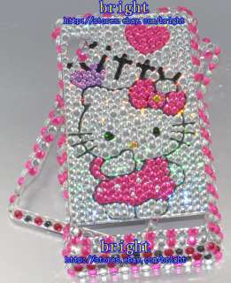 Hello kitty Bling Case Cover for Motorola Droid A855 #7