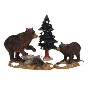 Lemax Christmas Village Collection Papa Bear With Cub Figurine #12514
