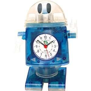 Riki Robot Gyrating Musical Alarm Clock Blue