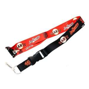 San Francisco Giants Reversible Clip Lanyard Keychain Id Ticket
