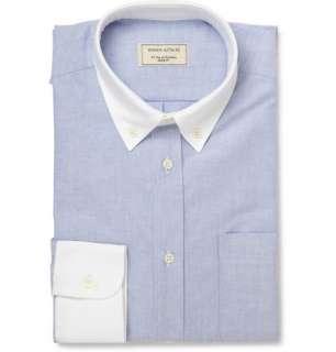 Maison Kitsuné Contrast Collar and Cuffs Oxford Shirt  MR PORTER