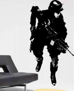 Big US Military Marine Army Soldier Vinyl Decal Sticker