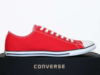 CONVERSE SCHUHE CHUCKS ALL STAR CT SLIM OX VARSITY RED ROT WEIß