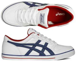 asics aaron cv navy white dress