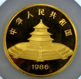 1986 NGC PF66 Ultra Cameo 12 oz .999 Gold China Panda 1000Y